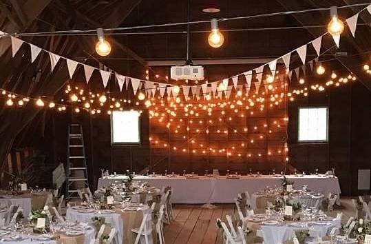 Restored Barn Wedding Reception